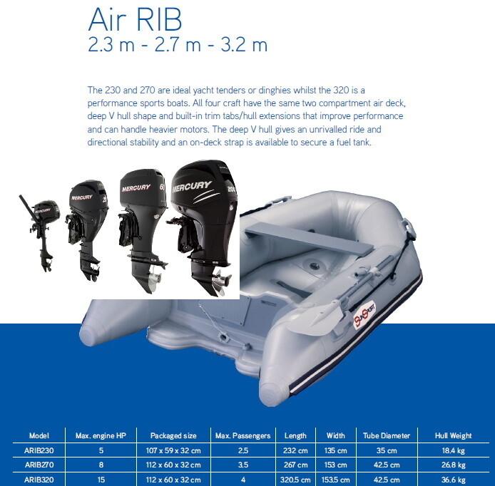 Sun Sport V Air Deck 270 ARIB Air Rib / Various Motor Options  MAKE SELECTION TO SEE PRICING