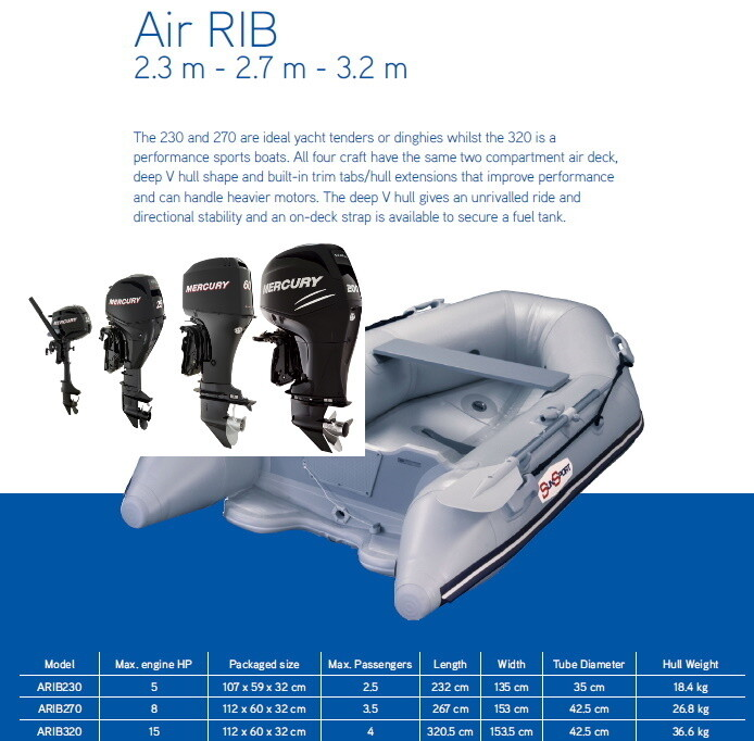 Sun Sport V Hull Air Deck ARIB 320 / Selection of Motors  MAKE SELECTION TO SEE PRICING