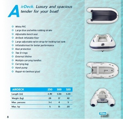 Mercury Quicksilver Inflatable Craft Package with choice of Motors 2.5m - 3.2m:  SELECT MODEL FOR PRICE
