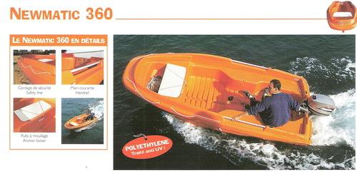 360 Rigiflex Newmatic (Orange) ~ Cap (White, Blue, Green)  Rescue / Sports Boat
