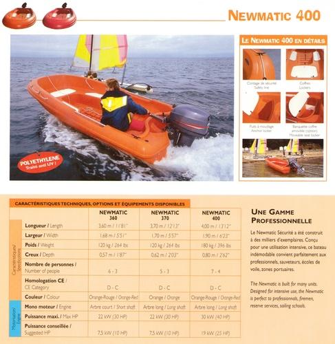 400 Rigiflex Newmatic (Orange) & Cap (White, Green, Blue) Rescue / Sports Boat