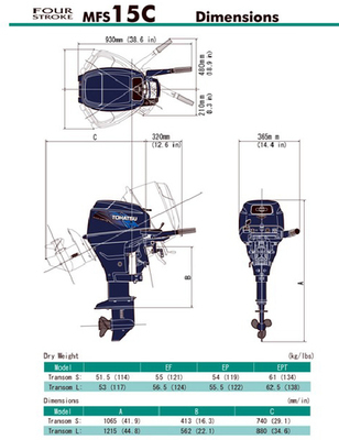 MFS 15E EFI Tohatsu Outboard ~ ALL Models ~ Click to show pricing