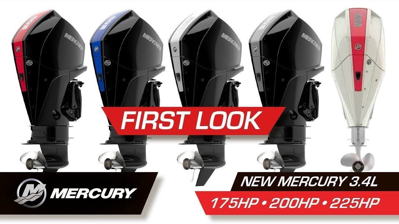 NEW Mercury / Mariner 175 ~ 200 ~ 225 hp V 6 Outboard 3.4 L Displacement