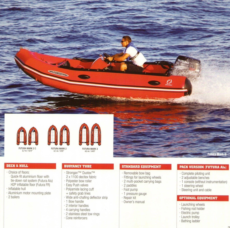 Zodiac FUTURA Inflatable Sports Boat, Fastroller Air & Ally Deck: 3.7m - 4.5m