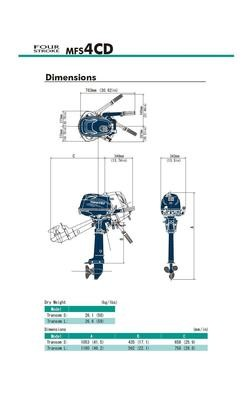 MFS 4C Tohatsu Outboard ~ ALL Models ~ Click to show pricing