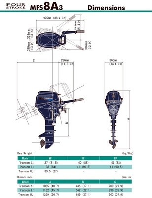 MFS 8A Tohatsu Outboard ~ ALL Models ~ Click to show pricing