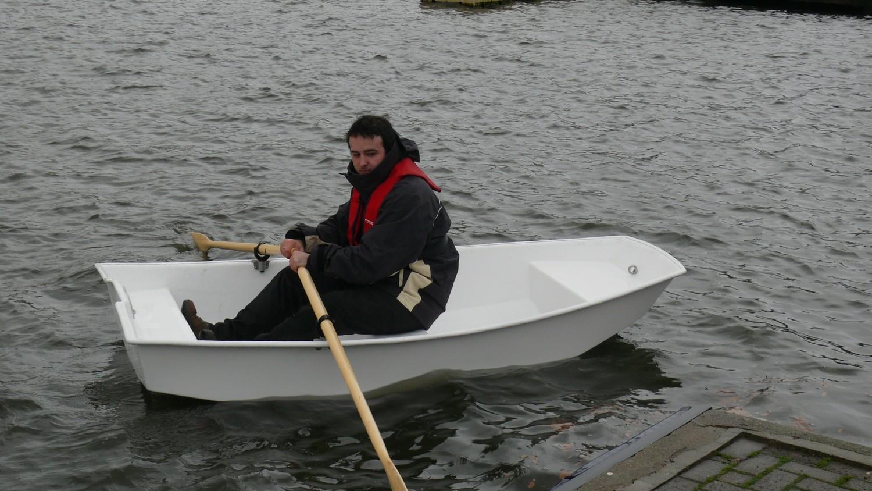 XS Fibreglass Rowing Skiff Dinghy; 2.4 m