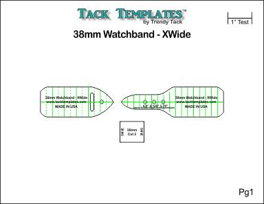 38mm Watch Band - XWide **PDF**
