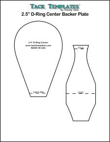 """2.5"""" D-Ring Center Backer Plate **PDF**"""