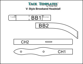 V-Style Browband Headstall **PDF**