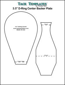 """3.5"""" D-Ring Center Backer Plate **PDF**"""