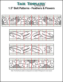 Belt Pattern - Feathers & Flowers  **PDF**