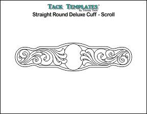 Straight Round Deluxe Cuff - Scroll **PDF**