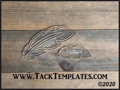 Feather Applique Template