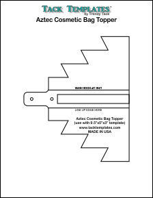 Cosmetic Bag Topper - Aztec **PDF**