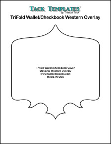 TriFold/Checkbook Western Overlay  **PDF**