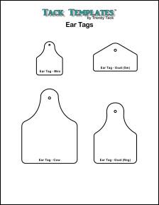 Ear Tag Patterns **PDF**