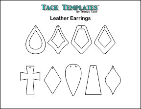 Leather Earring Patterns **PDF**