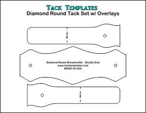 Diamond Round Tack Set (Double End) w/ Overlays **PDF**