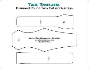 Diamond Round Tack Set (Single End) w/ Overlays **PDF**