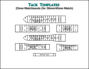 22mm Watch Bands - Straight and Tapered **PDF**