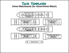 24mm Watch Bands - Straight and Tapered **PDF**