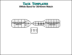 XWide Watchband for 38/40mm Watch **PDF**