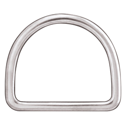 """Flat Saddle Dee (Stainless Steel) - 3 1/2"""""""
