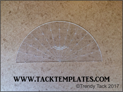 """15"""" Rope Can Lid Template (Half Template)"""