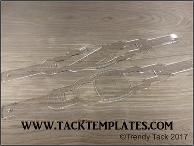 Trendy Tack Rectangle Deluxe Noseband