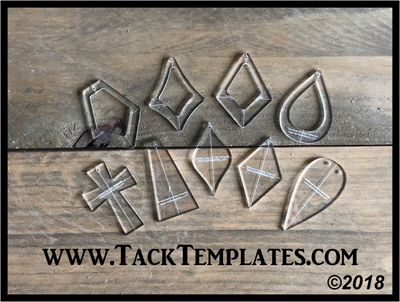 Leather Earring Templates (set of 9)