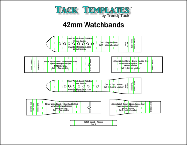42mm Watch Bands - Straight and Tapered **PDF**
