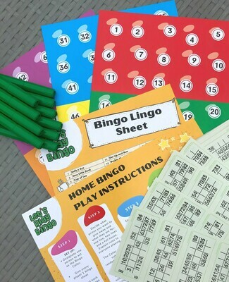 HOME BINGO KIT + 10 MARKERS