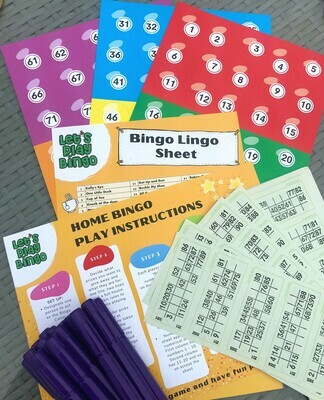 HOME BINGO KIT + 20 MARKERS