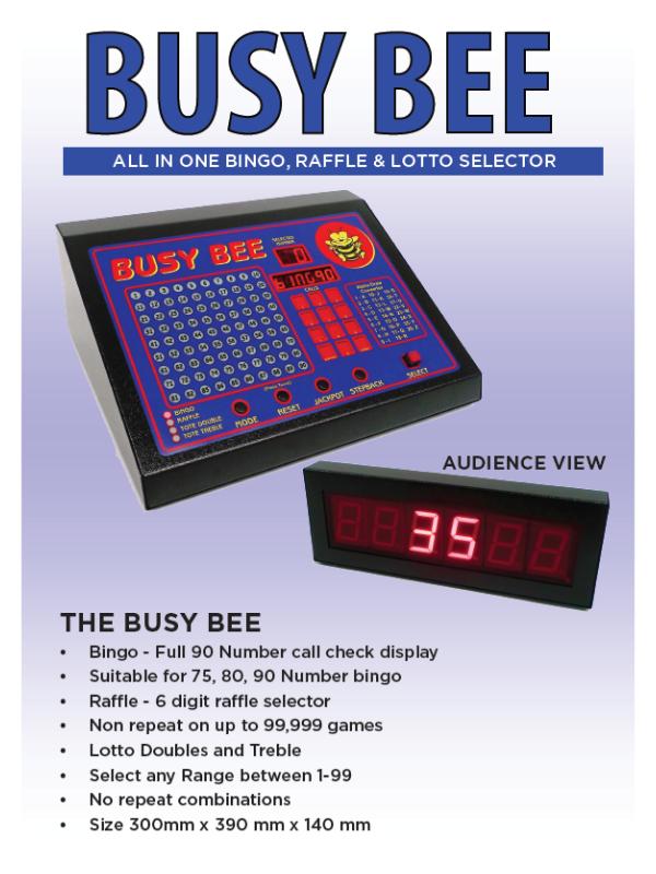 'Busy Bee' Bingo Machine