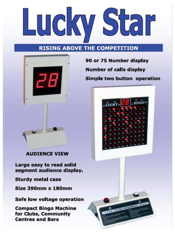 'Lucky Star' Bingo & Club Lotto Machine