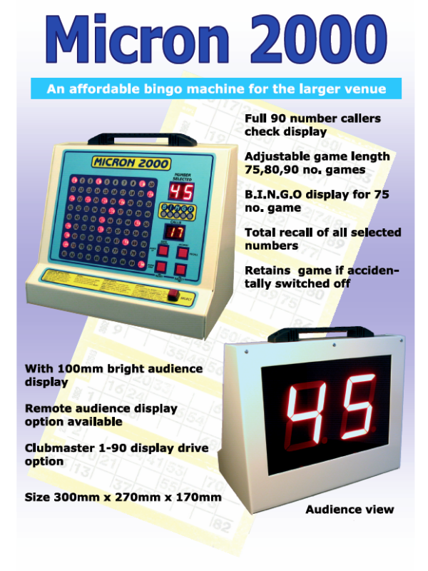 'Micron 2000' Bingo Machine