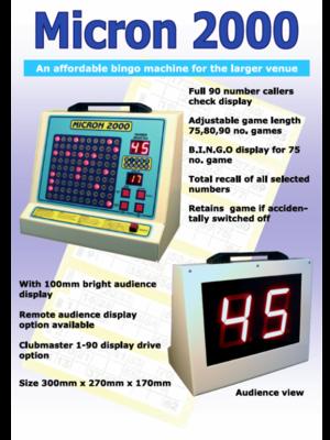 'Micron 2000' Bingo Machine