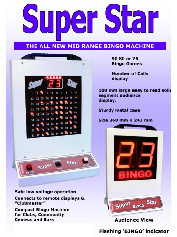 'Super Star' Bingo Machine