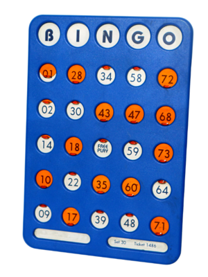 Reusable Bingo Shutterboards (Qty: 5 per Box)
