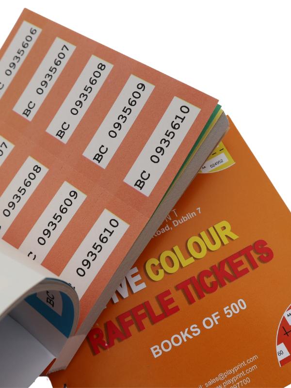 Raffle Tickets - Five Colour (Qty: 80 books per box)