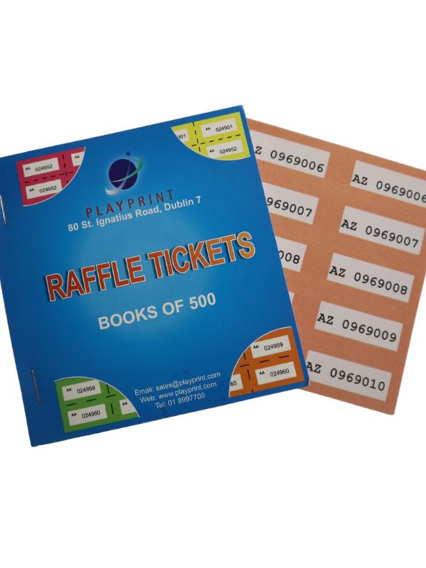Raffle Tickets - Single Colour (Qty: 60 books per box)