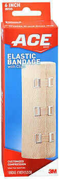 ACE Elastic Bandage with Clips 6 Inch