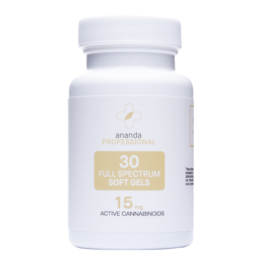 CBD 15 Mg Soft Gels Full spectrum- 30 Ct- Ananda