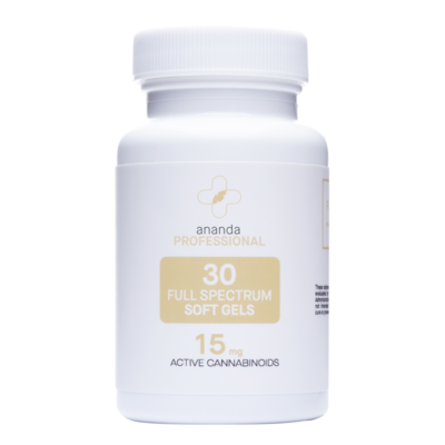 CBD 15 Mg Soft Gels Full spectrum- 30 Ct- Ananda