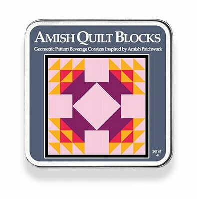 Amish Quilt Blocks Coaster Set