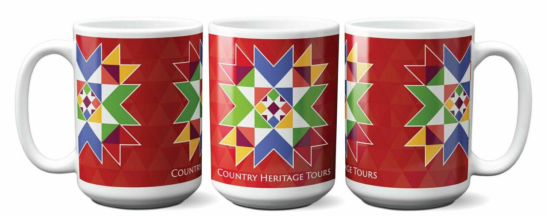 Crystal Star Ceramic Coffee Mug