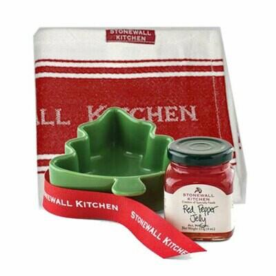Red Pepper Jelly Ramekin + Kitchen Towel Hostess Gift