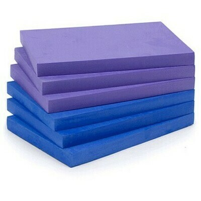 1 inch thick yoga block (new, blue)