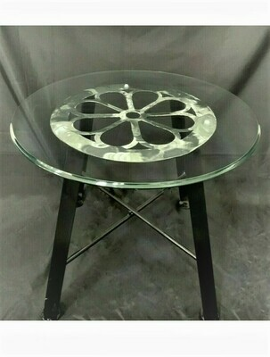 METAL TORCH-CUT  STEEL TABLE With 24